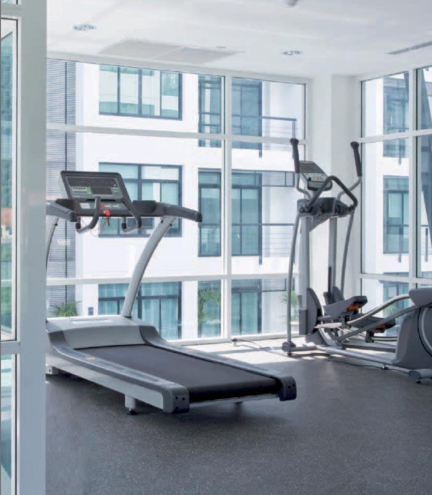 piso para equipo de gimnasio
