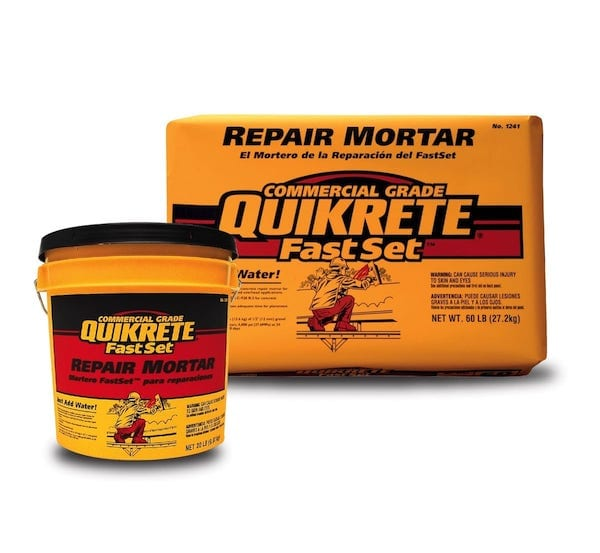 Quikrete repair mortar