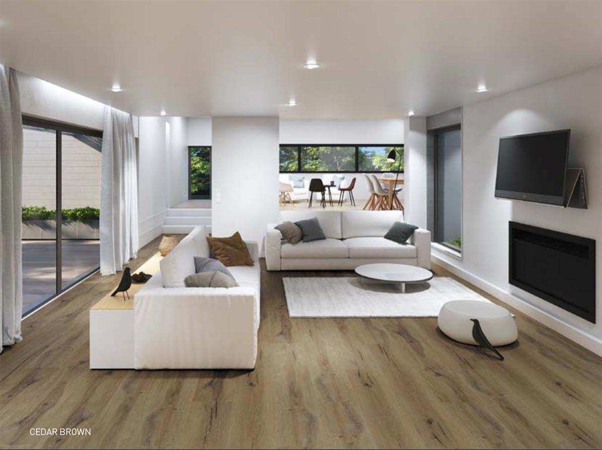 sala moderna con piso residencial gerflor